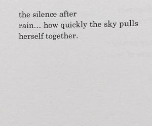 quotes, rain, and silence image