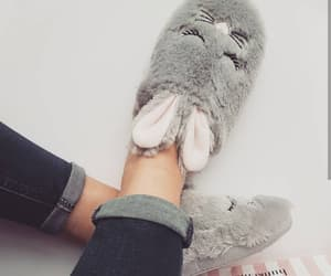 cozy, girl, and rabbit image
