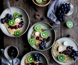 banana, blue, and blueberries image
