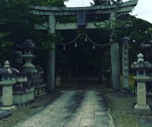 dark, japan, and stone image