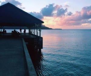 sunset, grunge, and sky image