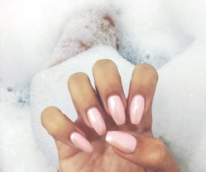 bath, nails, and pink image
