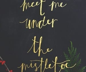 christmas, mistletoe, and wallpaper image