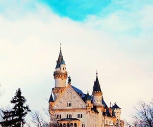 blue, castle, and city image