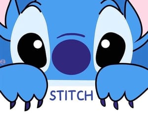 stitch, background, and blue image