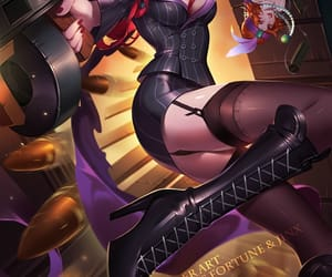 guns, black outfit, and league of legends image