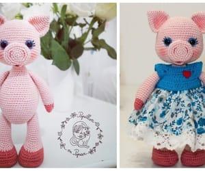 crochet, pig amigurumi, and piggy doll image