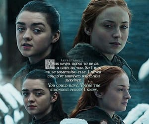 arya stark, game of thrones, and sansa stark image