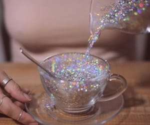 glitter, tea, and aesthetic image