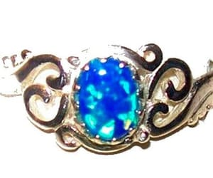 etsy, vintage ring, and sterling opal ring image