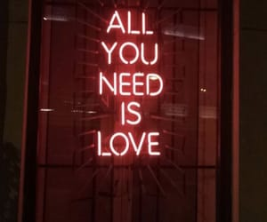 red, neon, and all you need is love image