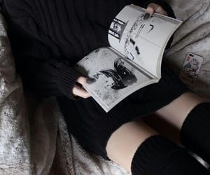 black, book, and manga image