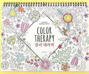 coloring book, anti stress, and color therapy image