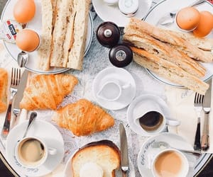 beige, bread, and cafe image