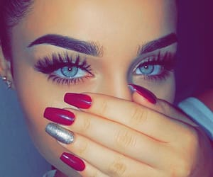 eyes, nails, and beauty image