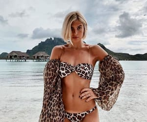 blonde, leopard, and ocean image