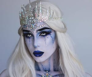 Halloween, ice queen, and white hair image