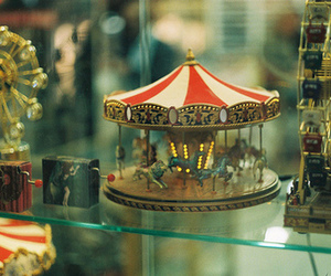 carousel, photography, and toys image