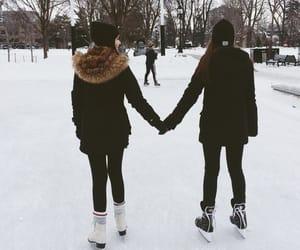 girl and ice skating image