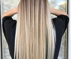hair, blonde, and goals image