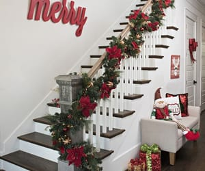 decoration, staircases, and xmas image