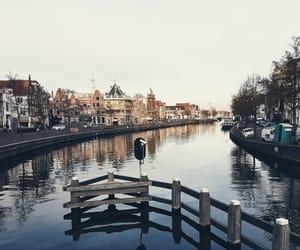 aesthetic, boats, and bridge image