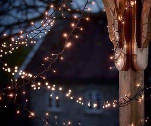 christmas, light, and night image
