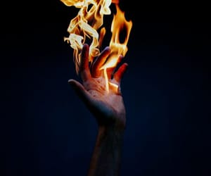 fire, hand, and magic image