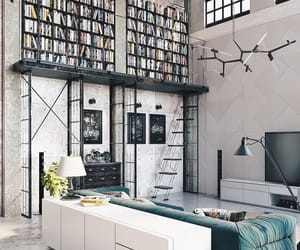 loft, books, and home image