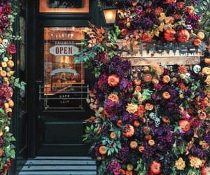 flowers and cafe image
