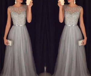 modest evening dress, prom dress long, and prom dress a-line image