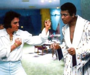 ali, boxing, and Elvis Presley image