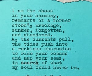 chaos, ocean, and poem image