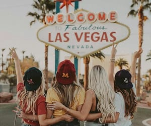 girl, friends, and Las Vegas image