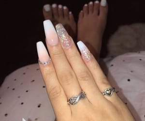 nails, toes, and pink & white image