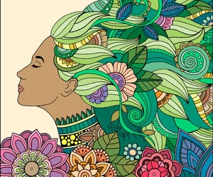 coloring, drawing, and flowers image