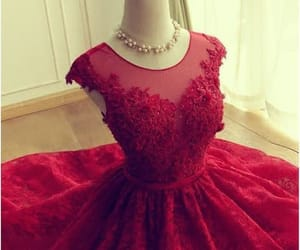 red prom dress, short prom dress, and homecoming dresses lace image