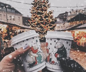 christmas, coffee, and holiday image