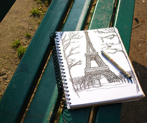 paris, drawing, and photography image