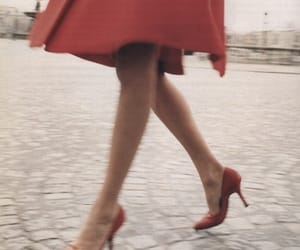 red, vintage, and dress image