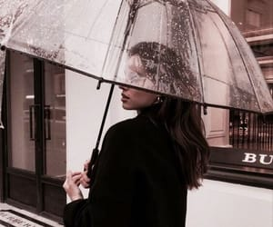 girl, rain, and fashion image