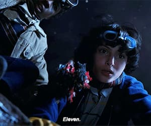 eleven, gif, and stranger things image