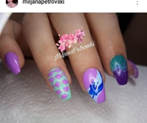 glitter, mermaid, and nailsmpetrovski image