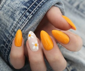 nails, style, and flowers image