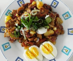 diet, eggs, and food image