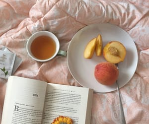 peach, aesthetic, and book image
