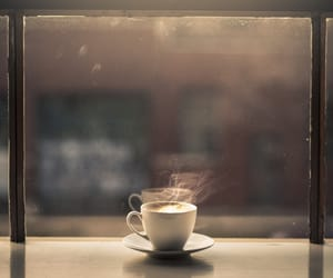 coffee, window, and cup image