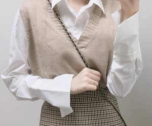 asian fashion, casual, and plaid skirt image
