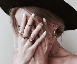 girl, beautiful, and rings image