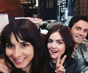 pll, ian harding, and lucy hale image
